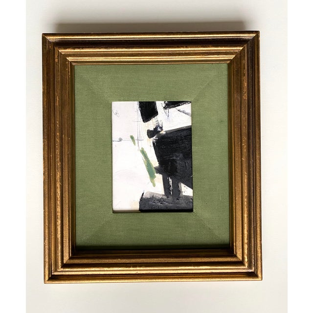Abstract Abstract Black and Green by Kimberly Moore For Sale - Image 3 of 3