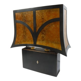 Torii Black Steel & Bronze Table Lamp For Sale