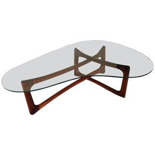 Adrian Pearsall Walnut Sculptural Coffee Table For Sale