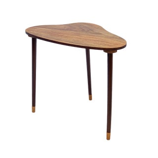 Vintage Danish Rosewood Organic Shaped Side Table For Sale