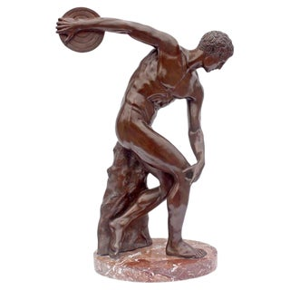 """""""The Discus Thrower"""" Bronze Grand Tour Sculpture For Sale"""