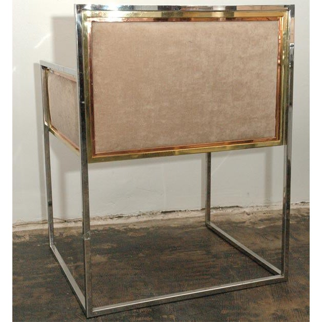 Copper Set of Four Armchairs by Alain Delon for Maison Jansen For Sale - Image 7 of 12