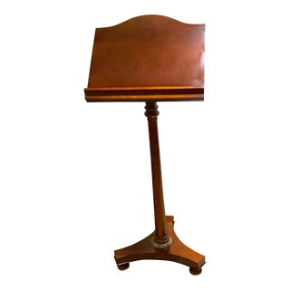 Vintage Wooden Lectern Stand For Sale