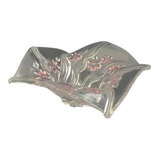 1990s Vintage Decorative Glass Bowl For Sale
