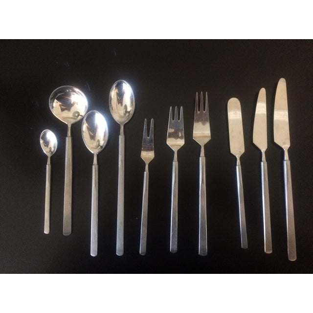 1950's Danish Modern Eric Herlow Oblisk Flatware - Service for 8 (84 Pieces) For Sale - Image 11 of 11
