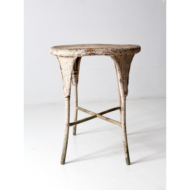 Antique Wicker Side Table For Sale - Image 11 of 13