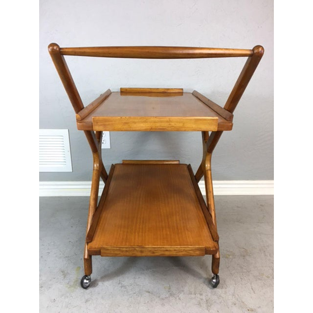 Italian Fruitwood Bar Cart - Image 5 of 9