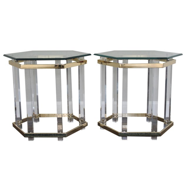 Charles Hollis Jones Style Lucite Tables - A Pair - Image 1 of 10