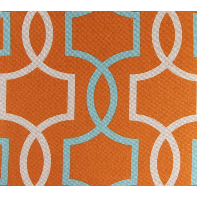 Orange Casey Linen Pillow - Image 7 of 7