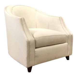 Caracole Modern Seems to Me White Club Chair For Sale