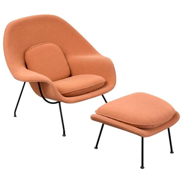 Orange Eero Saarinen Womb Lounge Chair and Ottoman, Usa, 1960s For Sale - Image 8 of 8