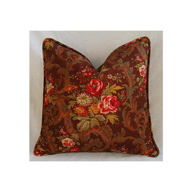 Traditional Custom American Folk Kings Floral Pillows - Pair For Sale - Image 3 of 9
