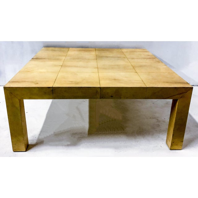 Modern Karl Springer Modern Lacquered Goatskin Coffee Table For Sale - Image 3 of 5