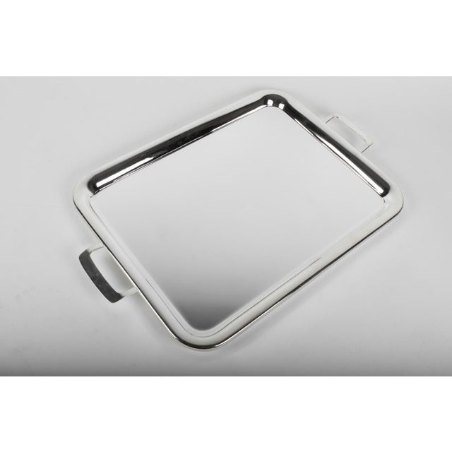 English Traditional Large Vintage English Plated Serving Tray / Barware For Sale - Image 3 of 5