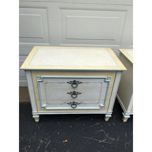 These charming nightstands by John Widdicomb are part of a complete set , being sold separately. Circa 1970's, Made in...