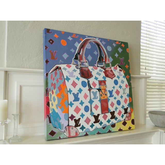 """""""Louis Vuitton Bag,"""" State II (Multi-Colored) Painting by Steve Kaufman (Sak) For Sale - Image 6 of 11"""