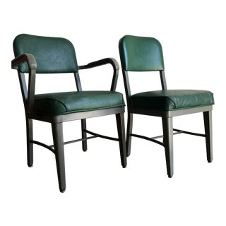 Vintage Office Industrial Chairs by Techfab Furniture Missouri (A Pair) For Sale