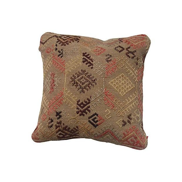 Natural Kilim Rug Pillow - Image 1 of 3