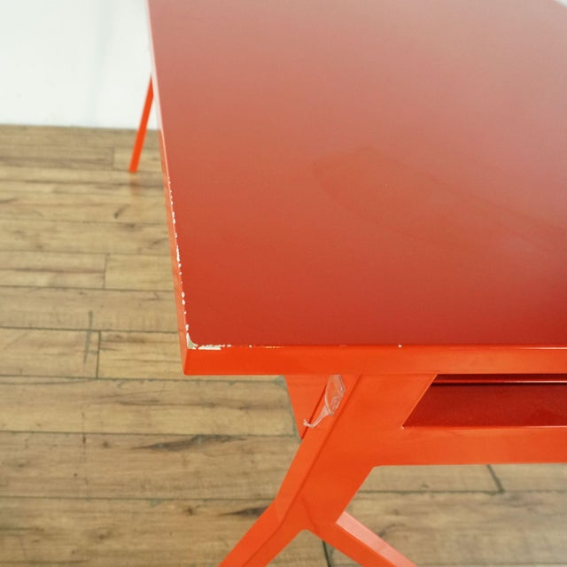 Contemporary Blu Dot Red Computer Desk For Sale In San Francisco - Image 6 of 10