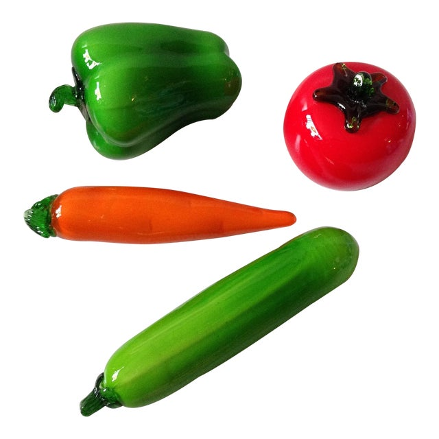 Italian Glass Vegetables - Set of 4 - Image 1 of 7