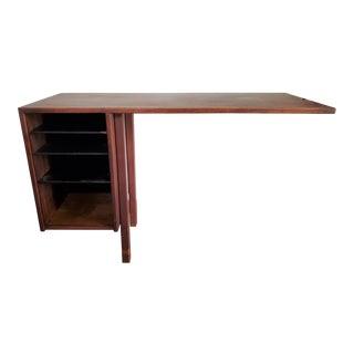 Mid-Century Modern Walnut Floating Desk by Jens Risom For Sale