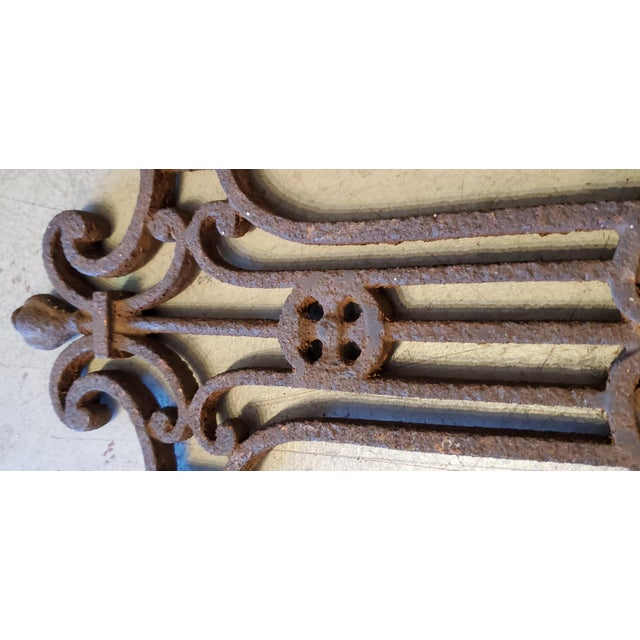 French Vineyard Hand Wrought Cross With Angels For Sale - Image 4 of 6