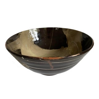 Vintage Abstract Studio Ceramic Bowl For Sale