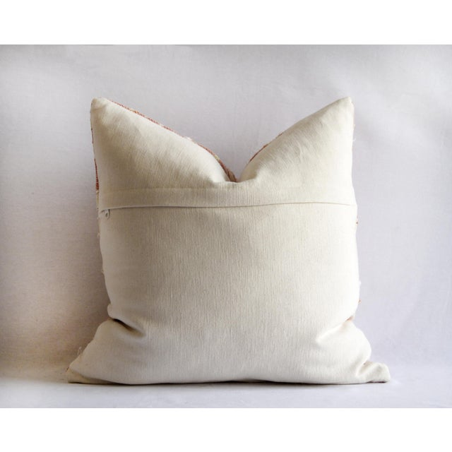 Contemporary Contemporary Coral Color Diamond Silk Embroidery Pillow Cover For Sale - Image 3 of 7