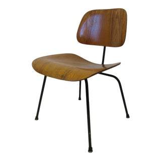 Mid 20th Century Early Production Eames Dcm Chair for Herman Miller With Foil Label For Sale