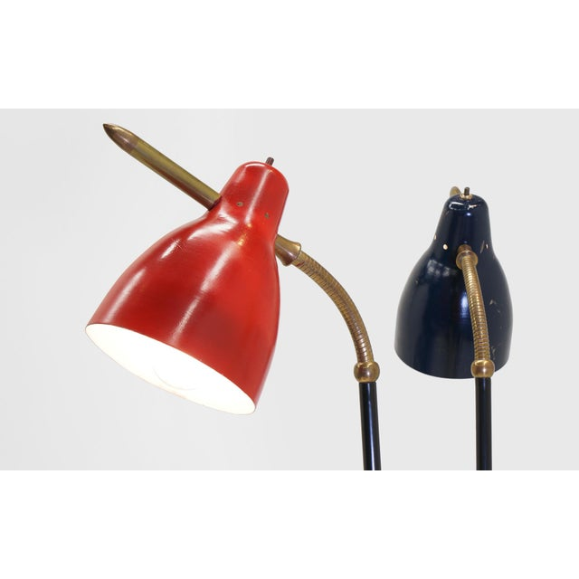 Italian Three Post/Arm Floor Lamp For Sale In Kansas City - Image 6 of 8