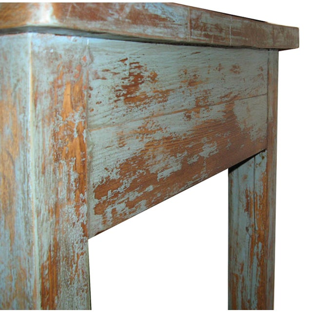 Distressed Blue Table - Image 5 of 7
