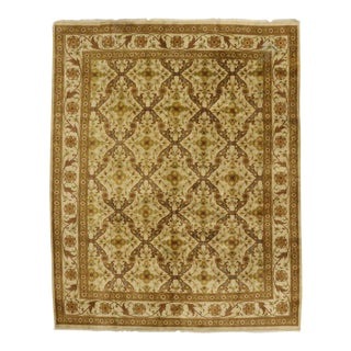 Vintage Indian Rug with Transitional Style and Golden Hues For Sale