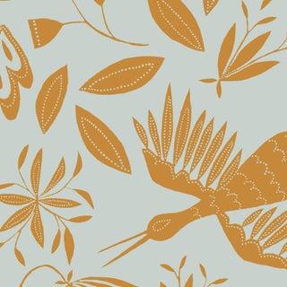 Julia Kipling Otomi Grand Wallpaper, Sample, Ocre Sky For Sale