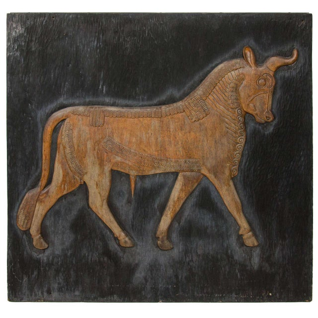 Exceptional Hand Carved Artwork Panel From the Estate of Charles Lamb For Sale - Image 10 of 11