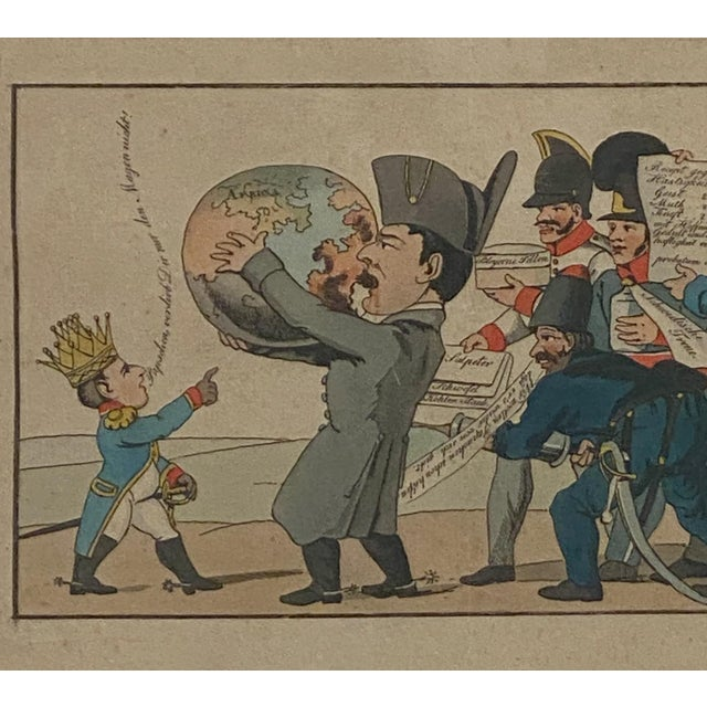 1810 Napoleon & the World Political Cartoon, France For Sale - Image 4 of 6