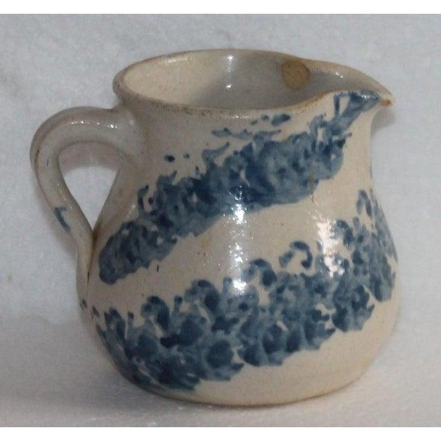 Ceramic 19th Century Sponge Ware Pottery Cream Pitcher For Sale - Image 7 of 8