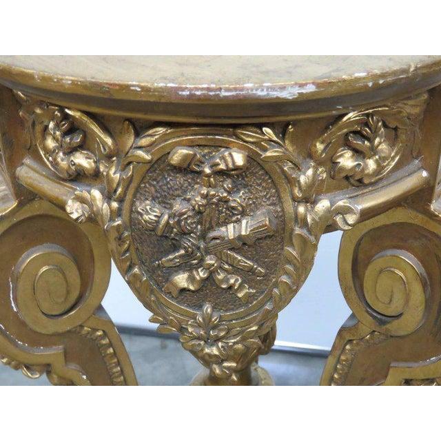 Hollywood Regency Hollywood Regency Style Pedestal For Sale - Image 3 of 9
