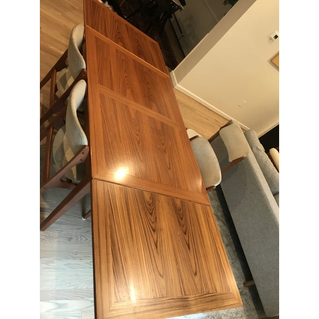 1960s Mid-Century Dining Table & Chairs by Skovby & o.d. Mobler - Set of 5 For Sale - Image 5 of 13