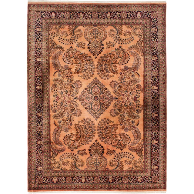 "Indian Hand-Knotted Rug-7'9"" X 10'8"