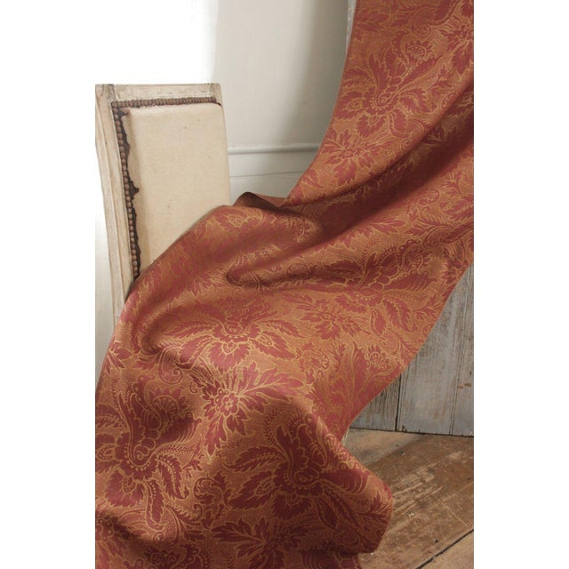 A lovely antique French furnishing fabric dating c1880. This fabric is jacquard weave with stunning design! This fabric is...