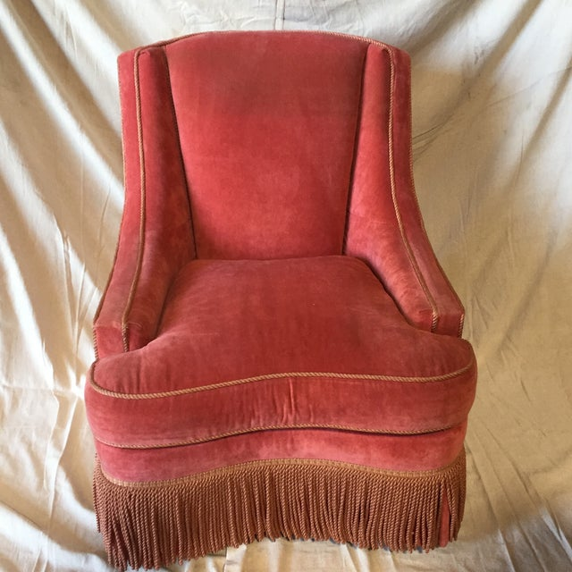Wood Councill Craftsmen Red Chair For Sale - Image 7 of 7