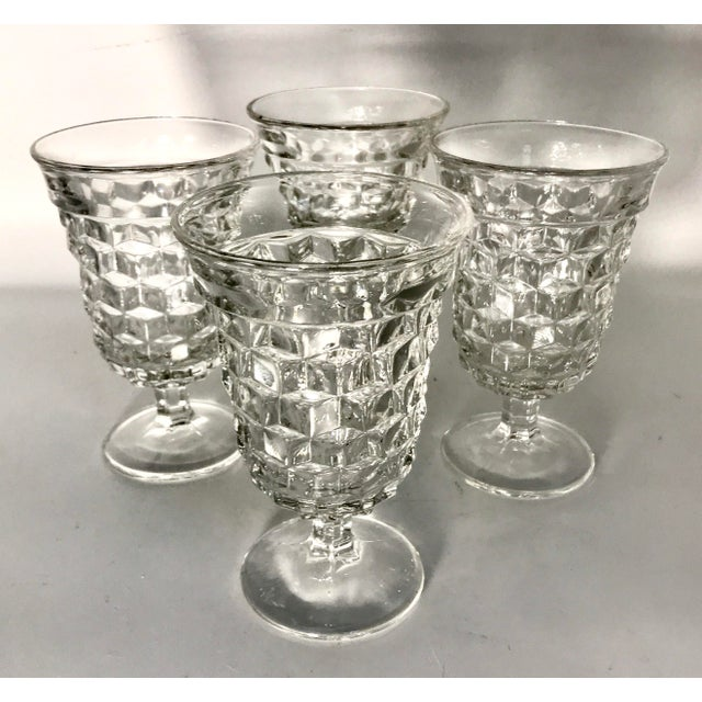 Crystal Fosteria American Crystal Clear Goblets - Set of 4 For Sale - Image 7 of 7