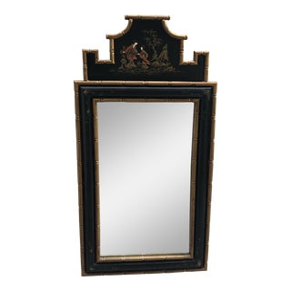 1970s Vintage Chinoiserie Faux Bamboo Mirror For Sale