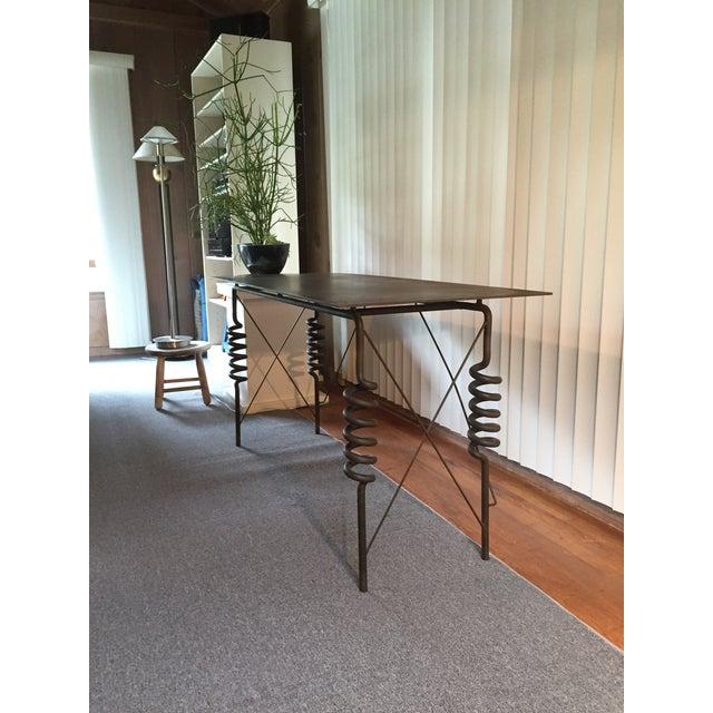 Masaki Morita Metal Desk / Hall Table C 1982 - Image 3 of 11