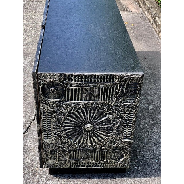 """Adrian Pearsall for Craft Associates """"Sculpted Bronze"""" Brutalist Credenza For Sale - Image 10 of 12"""