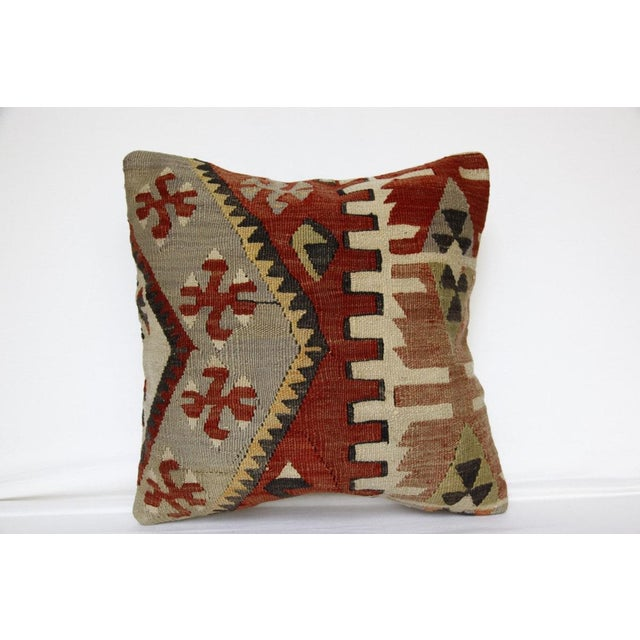 Red 1970s Handmade Kilim Pillow Cover For Sale - Image 8 of 8