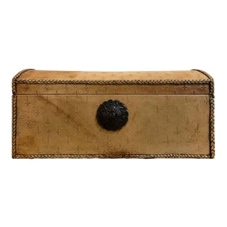 1960s Leather Jewelry Box With a Key For Sale