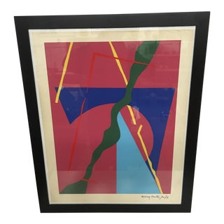 Colorful Abstract Lithographic Poster - Richard Morten 1974