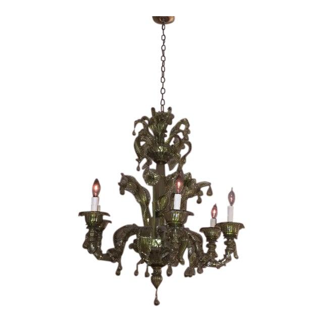 Murano Glass Chandelier Buy Online: Antique Venetian Murano Glass 6 Light Chandelier