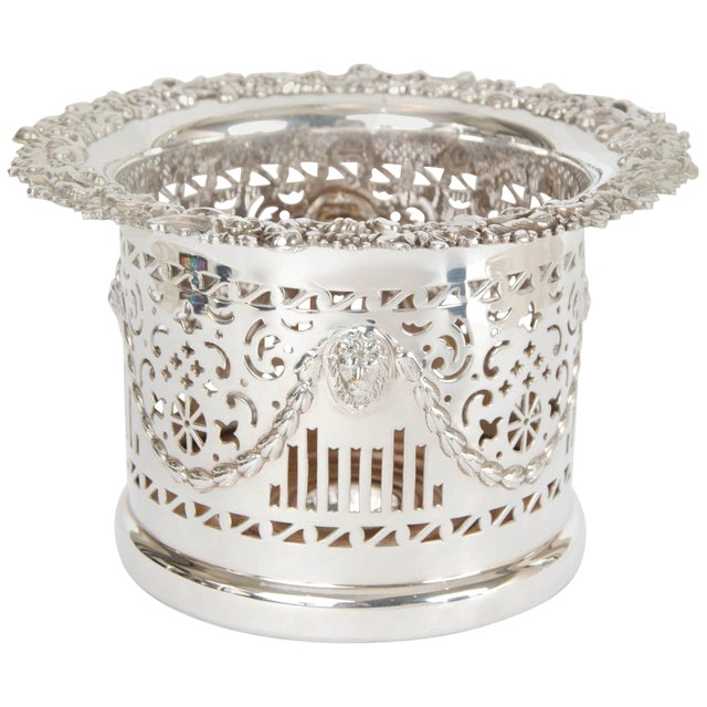 Silver Plate High Wine Coaster For Sale